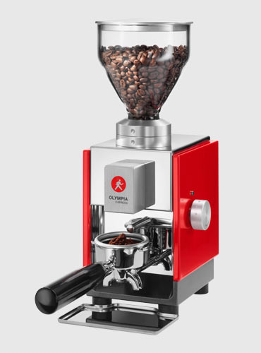 The fresh Moca (2014), a premium coffee grinder developed in the Olympia tradition